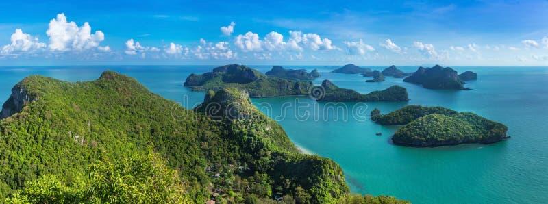 Bird eye view of Sea Thailand, Mu Ko Ang Thong island National P royalty free stock image