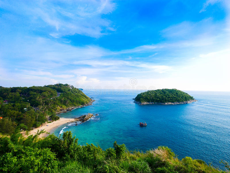 Bird Eye Views in Phuket, Thailand stock photography
