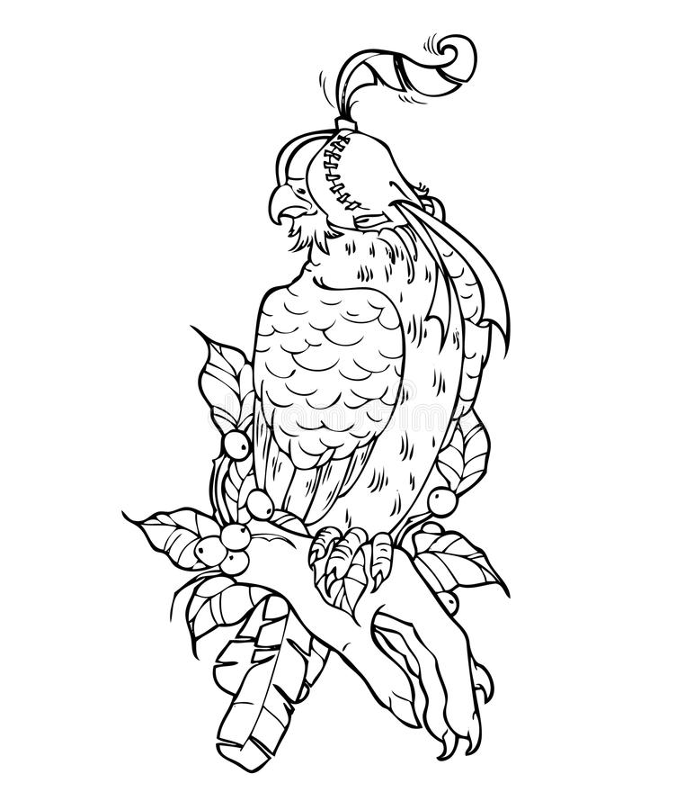 Bird falcon, hand drawing, vector illustration. Bird falcon, hand drawing, vector illustration isolated on white background vector illustration