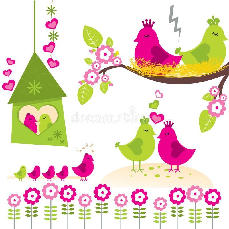 Bird Family royalty free illustration
