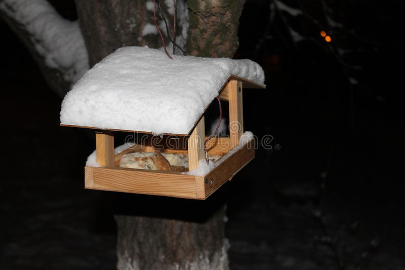 Bird feeders royalty free stock photos
