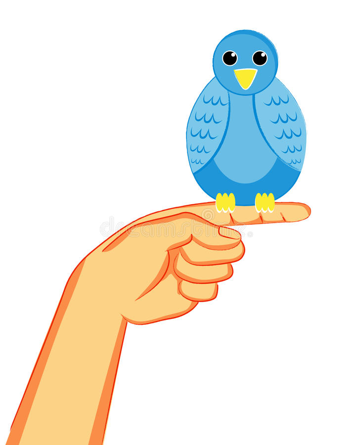 Bird On The Finger Stock Images