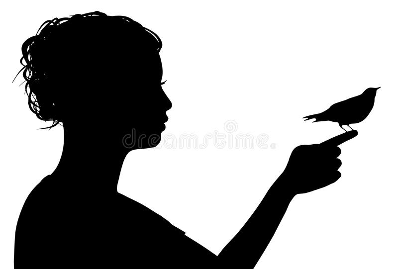 Bird on Finger royalty free stock photography