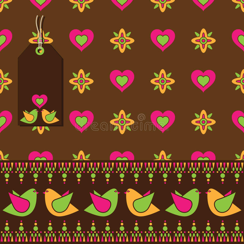 Download Bird Floral Wrapping Stock Image - Image: 12681031