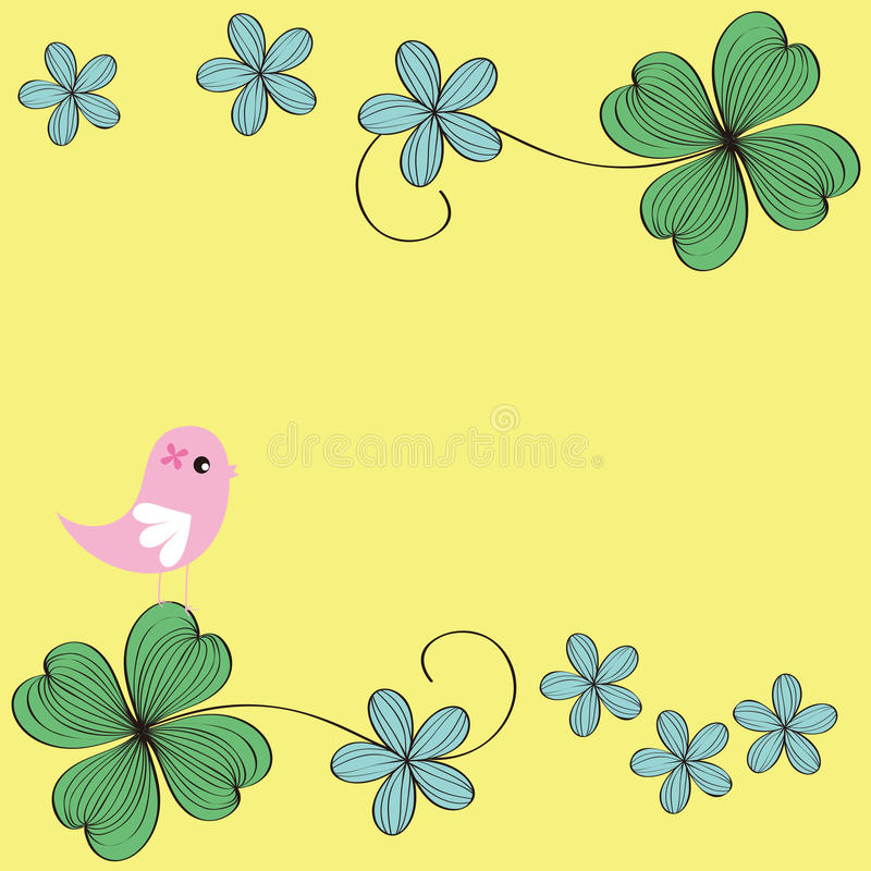 Download Bird And Flower Card Pattern Design Stock Vector - Image: 26111627