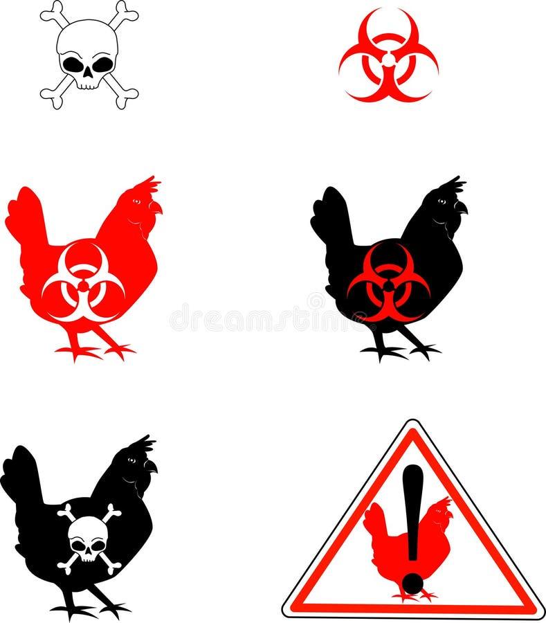 Bird_flu royalty-vrije illustratie