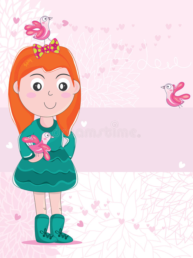 Download Bird Girl Friend_eps stock vector. Illustration of design - 29136906