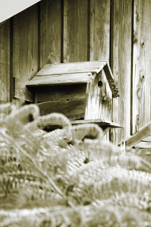 Download Bird House stock image. Image of cedar, shingle, brown, rural - 18211