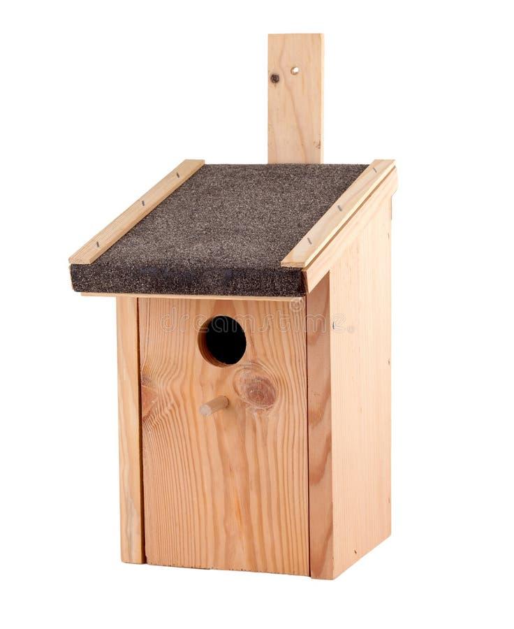 Bird House. Isolated on white background royalty free stock photo