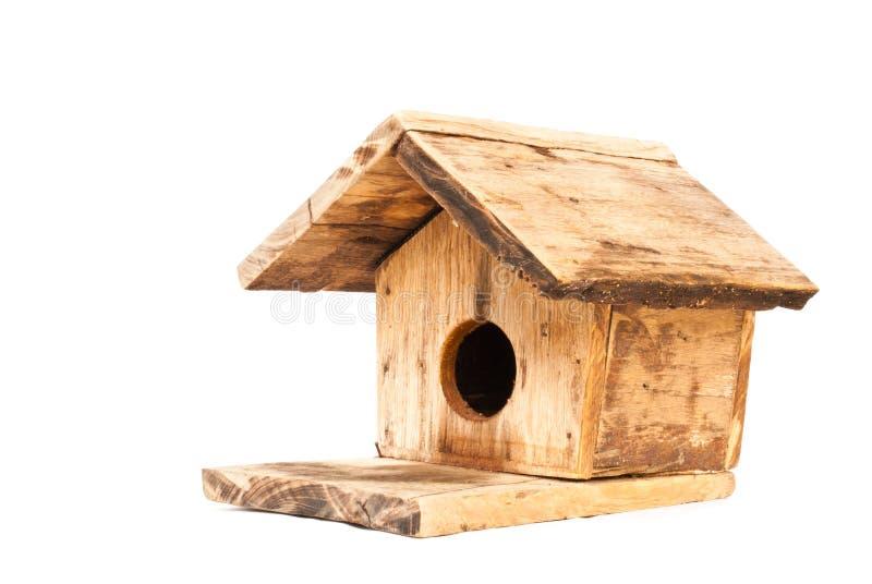 Bird house. Co wooden bird house made beautiful shape royalty free stock photo