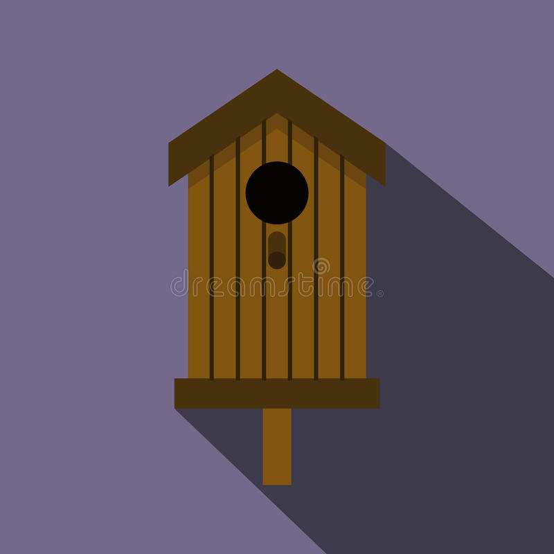 Bird house icon, flat style vector illustration
