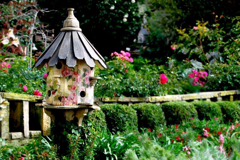 Bird house in Victorian Garden royalty free stock photography