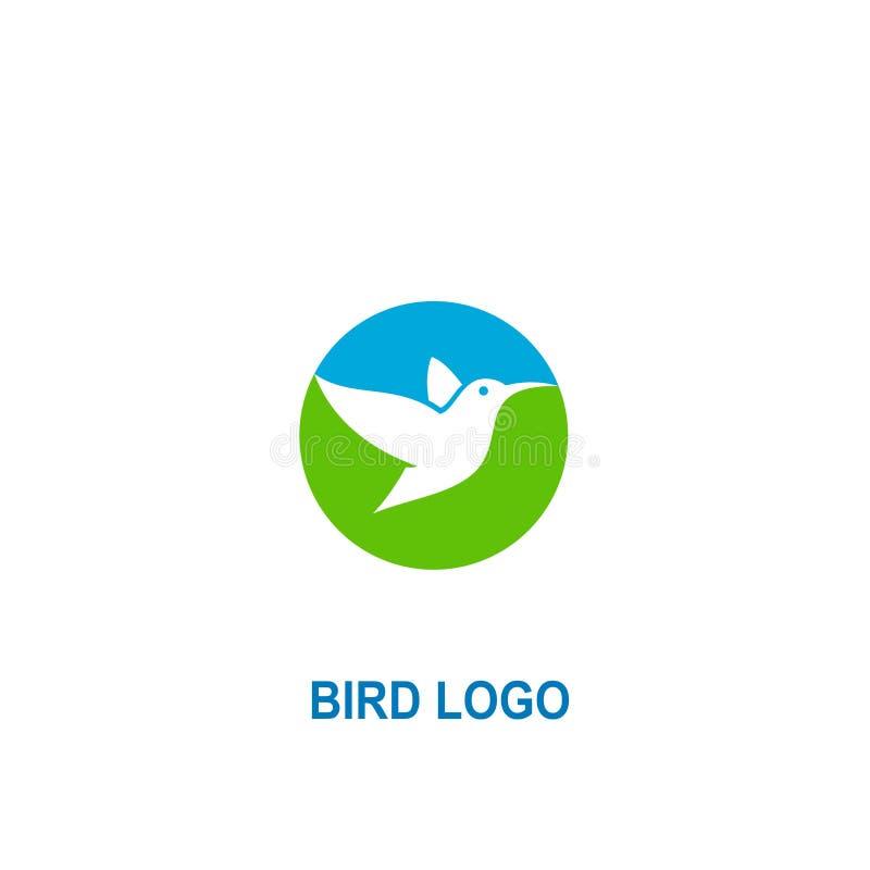 Bird icon logo, circle logo design royalty free illustration