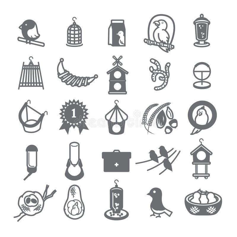 Bird icon set for pet shop 2 royalty free stock image