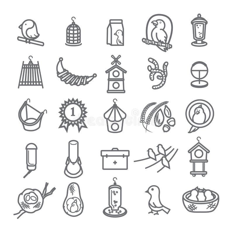 Bird icon set for pet shop 1 stock image