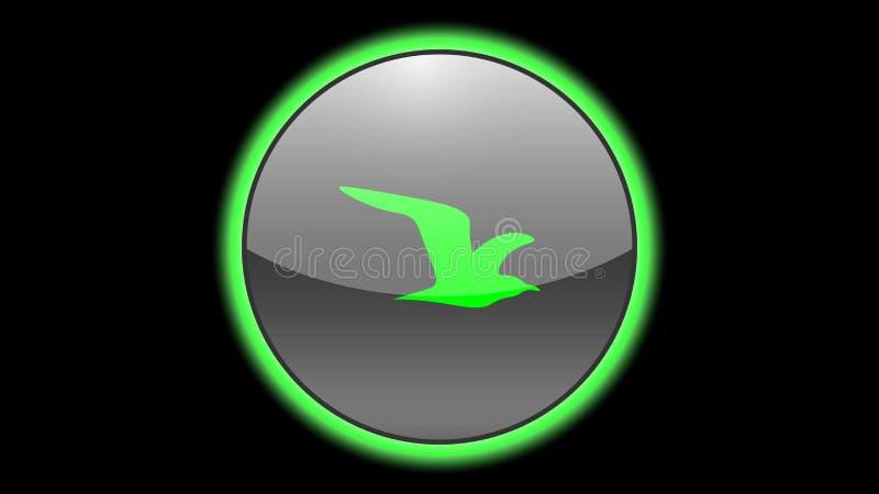 Bird icon vector design. Green neon icons with animals. Animals icons vector vector illustration