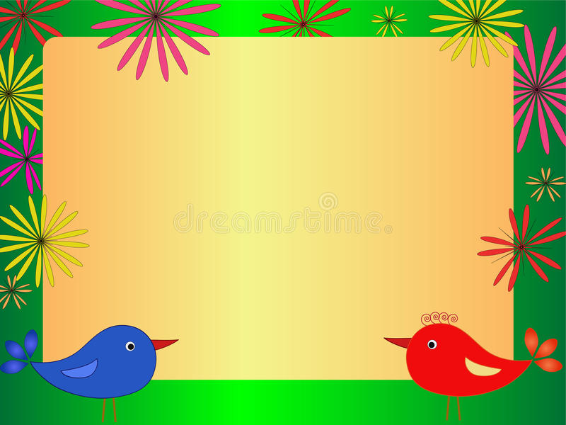 Bird illustration royalty free stock photos
