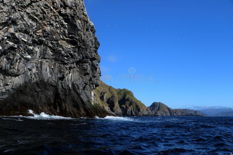 Bird island Runde in Norway royalty free stock photography