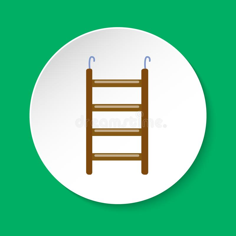 Bird ladder accessory icon in flat style royalty free illustration