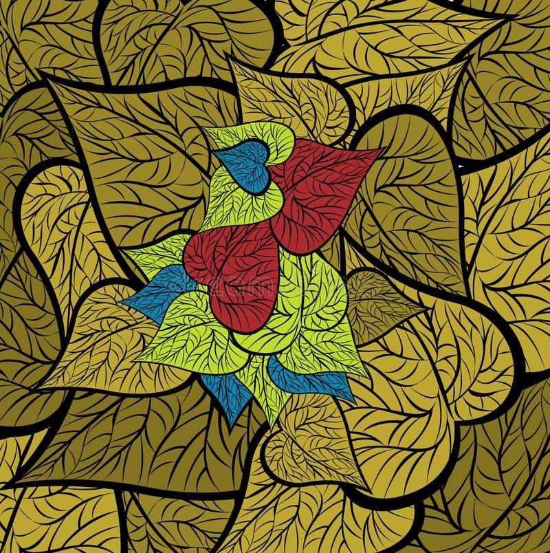 Download Bird or leaf stock illustration. Illustration of decoration - 13356577