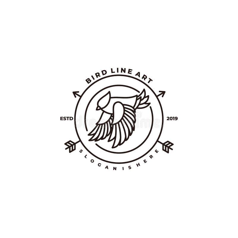 Bird Line Illustration Vector Design Template vector illustration