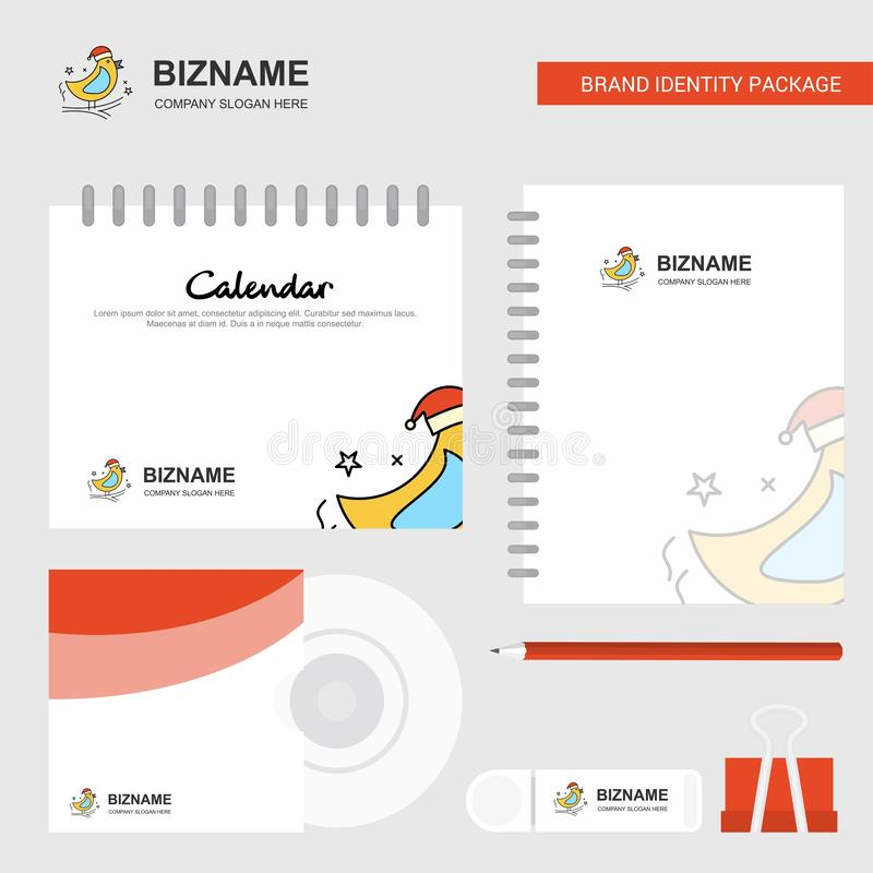 Bird Logo, Calendar Template, CD Cover, Diary and USB Brand Stationary Package Design Vector Template vector illustration