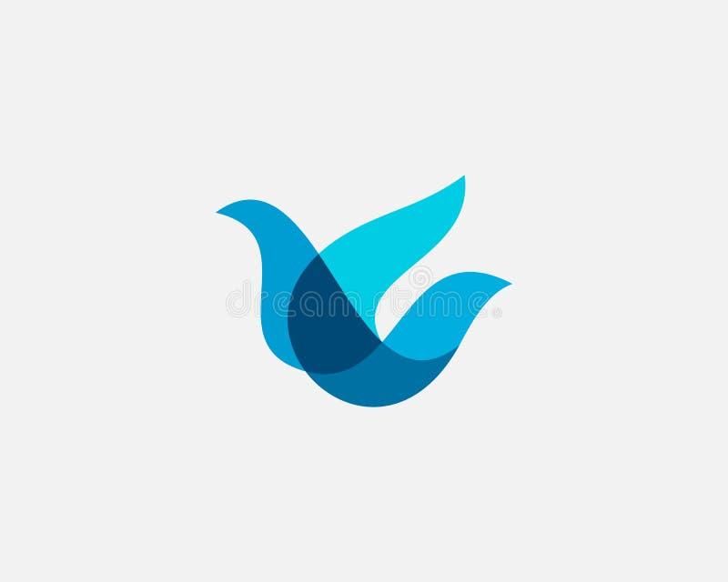 Bird logo design abstract modern colorful style illustration. Dove freedom vector icon symbol identity logotype.  stock illustration