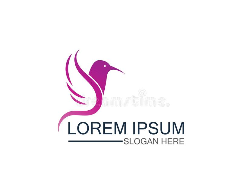 Bird logo template design vector, concept creative icon. Symbol, element, isolated, abstract, business, shape, emblem, art, freedom, corporate, color royalty free illustration