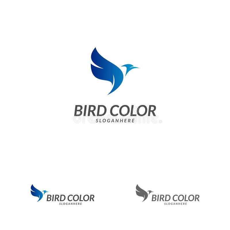 Bird logo vector. Flying Bird Logo design vector template. Dove Pigeon Logotype concept icon royalty free illustration