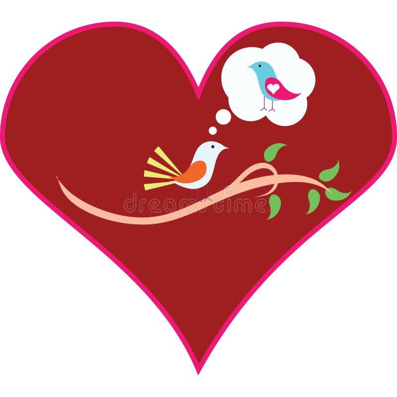 Download Bird in love stock illustration. Illustration of decorative - 13670603