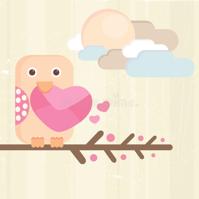 Download Bird and love letter stock vector. Image of style, romantic - 12704118