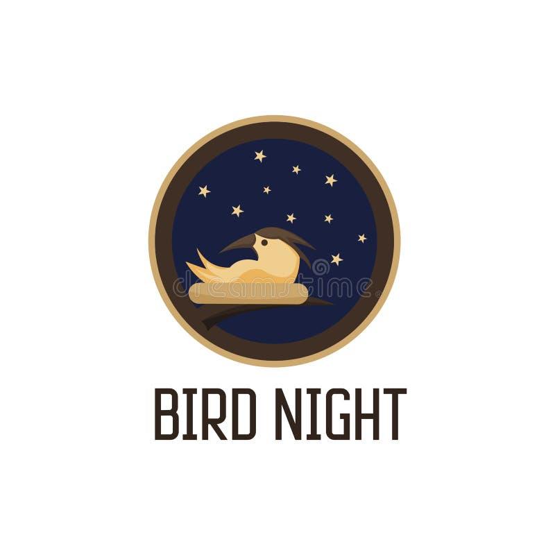 Bird night vector illustration design stock illustration