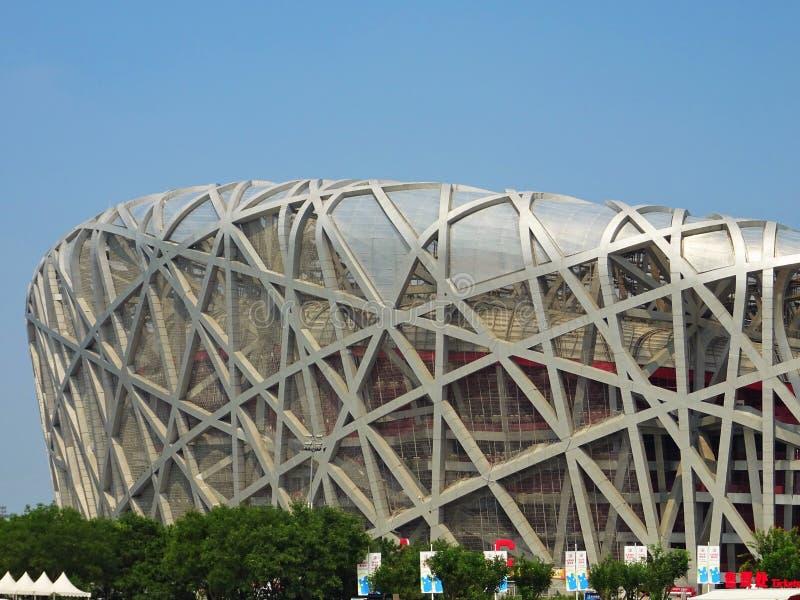 Bird& x27; ninho de s no parque olímpico do Pequim imagens de stock royalty free