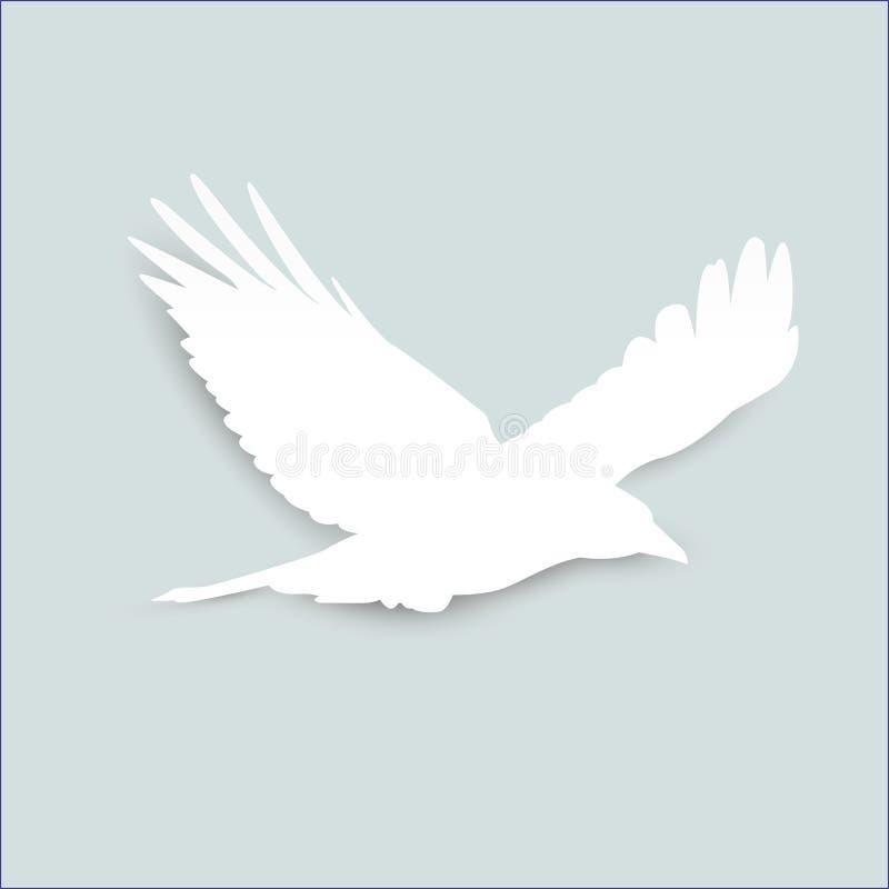 Bird origami hang on bar. template newton`s cradle. stock illustration