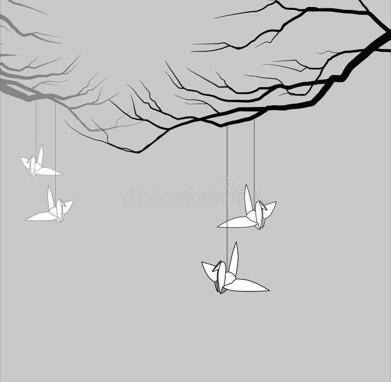 Bird origami. royalty free illustration