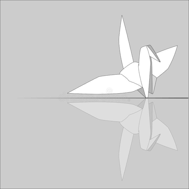 Bird origami. vector illustration