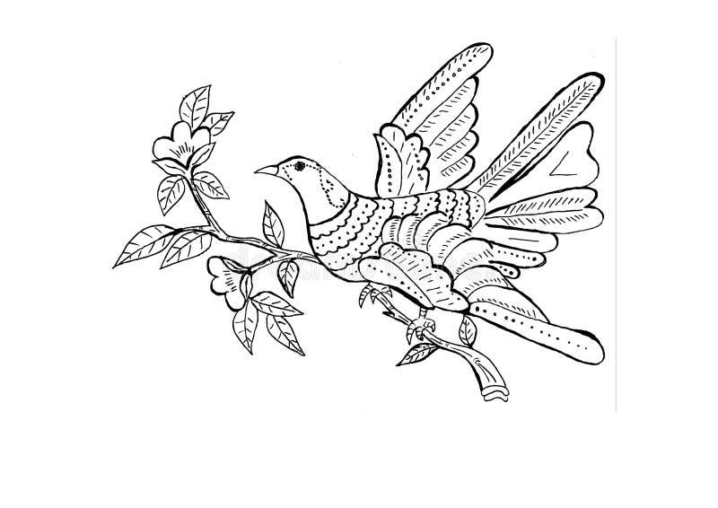 Bird ornament royalty free illustration