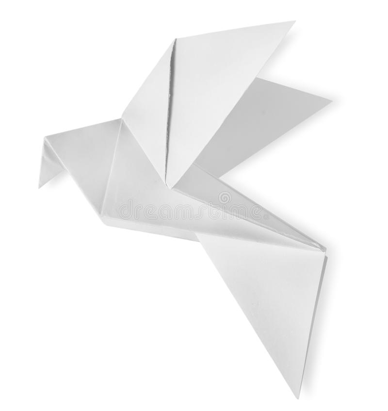 Bird paper isolated royalty free stock photography
