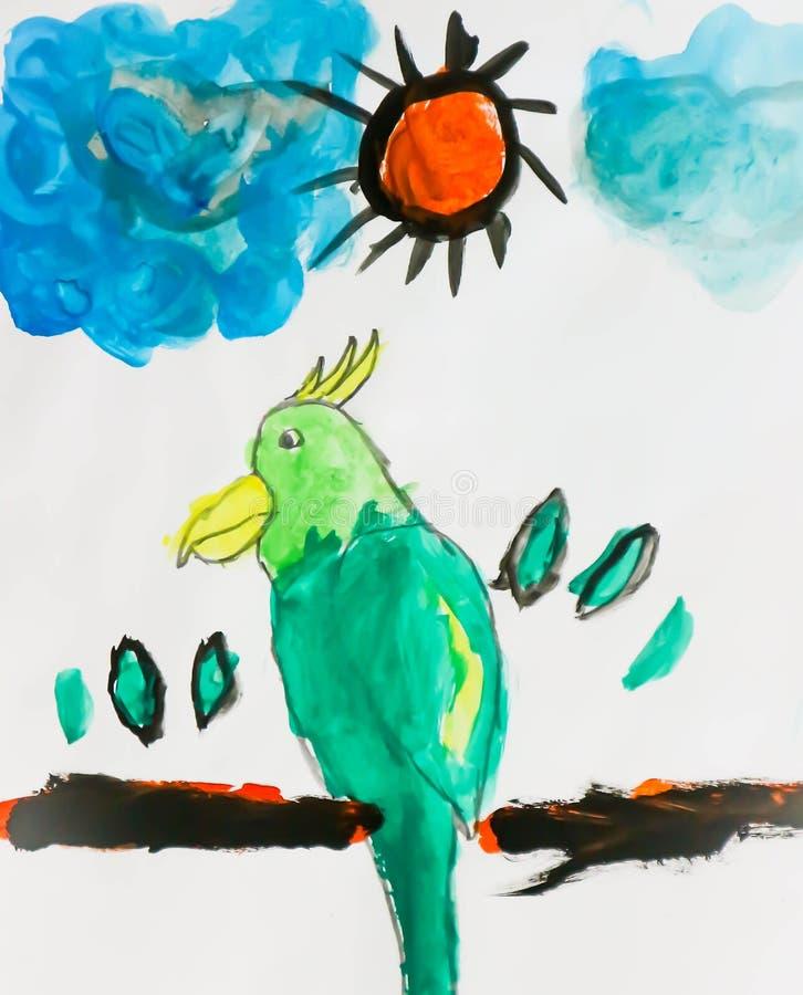 Bird picture or bird painting stock photos