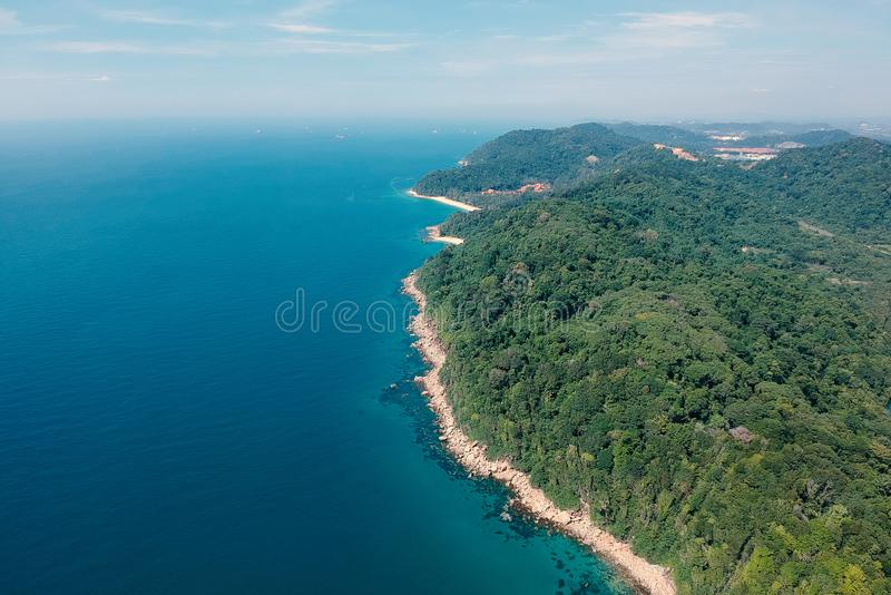 Bird's Eye View Of Beach royalty free stock images