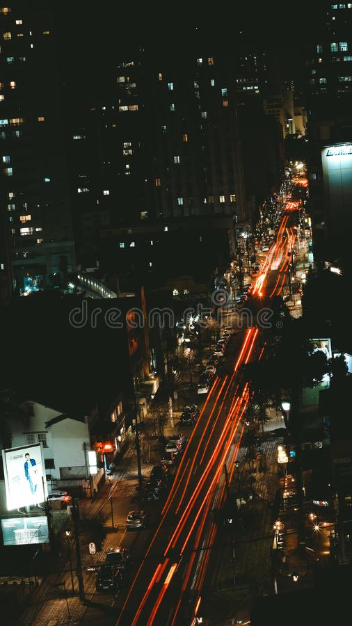 Bird's Eye View Of City At Night Time Free Public Domain Cc0 Image