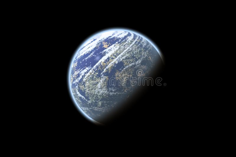 Bird's eye view of Earth royalty free stock photo