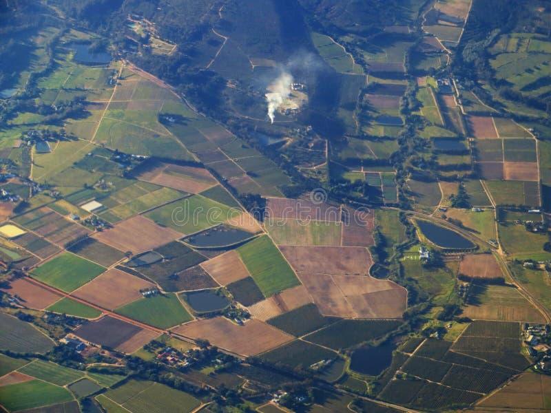 Bird's Eye View Of Farmland royalty free stock photos