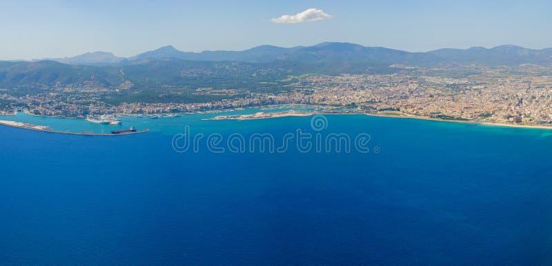 Bird S-eye View On The Island Mallorca Royalty Free Stock Photos