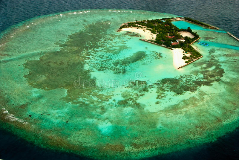 Download Bird's eye view islands stock image. Image of happy, maldives - 20184879