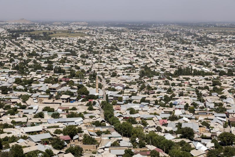 Bird`s eye view of Osh in Kyrgyzstan. Central asia royalty free stock photography