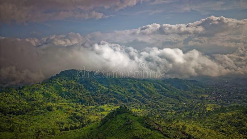 Bird's Eye View Photography of Mountain stock photography