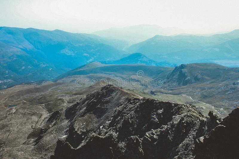 Bird's Eye View Photography of Mountains royalty free stock image