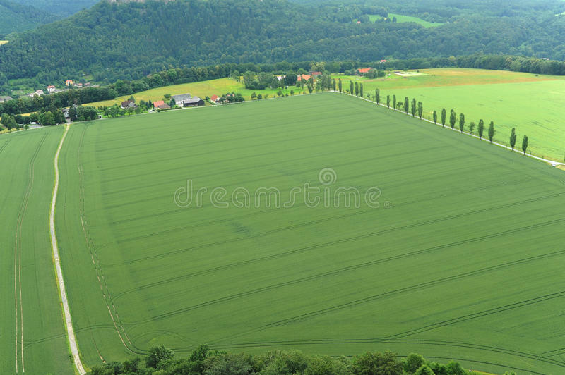 Download Bird's Eye View Of Rural Landscape Scenic. Royalty Free Stock Image - Image: 24321216