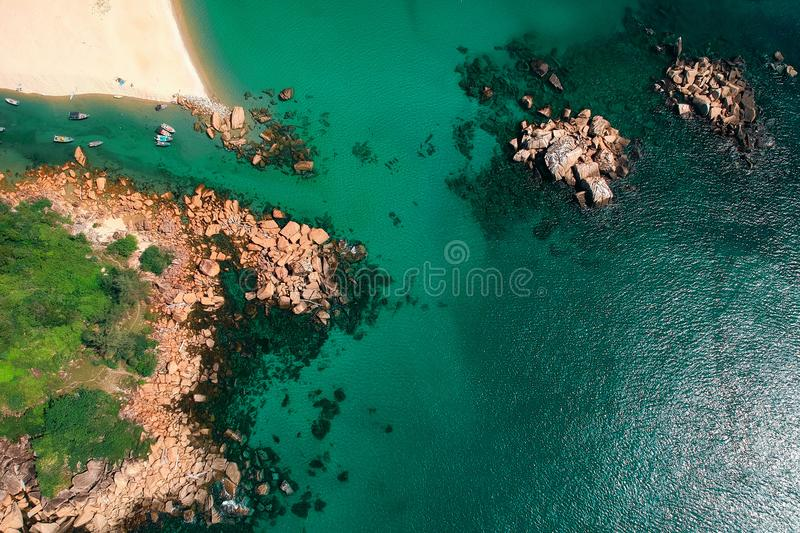 Bird's View Photography of Body of Water stock photography